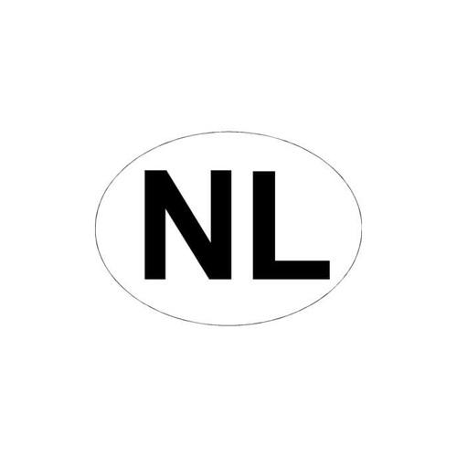 NL Sticker ovaal